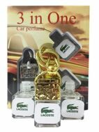 Car perfume 3 in One Lacoste Blanc